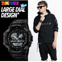 China Large Dial Design Tough guy style Men Three Time Zone Multifunction Waterproof 50M Sport Watch 1164 wholesale