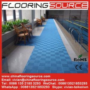 China Interlocking PVC Swimming Pool Mat Non silp safety mat Locker Room Mat Drain Water Mat wholesale