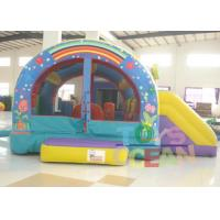 PVC Gaint Inflatable Bouncer Playground Combo With Two Slide For Kids Outdoor Play