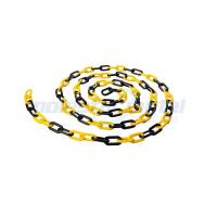 China 8 MM Diameter Traffic Cone Plastic Chain Link With Black Yellow Color wholesale