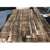 Buy cheap Sliced Cut Natural Acacia Wood Veneer Panels For Cabinets Nonuniform Color from wholesalers