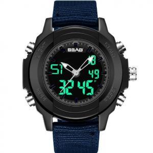 Quality Wholesale Sbao Men Dual Time Waterproof 30m Chronograph Alarm Fashion Sport for sale