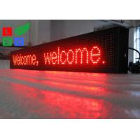 China IP65 Waterproof LED Scrolling Sign Red Color USB / U-disk Control For Shop Facade Sign wholesale