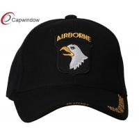 China Black 101st AIRBORNE Military Baseball Hats , Pure Acrylic Curved Bill Army Baseball Caps wholesale