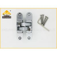 China Zinc Alloy Concealed Invisible Door Hinges , 3D Adjsuatble Cupboard Door Hinges wholesale