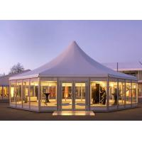 China Octagonal Glass Wedding Party Tent , Outside Party Tents SGS Approved on sale