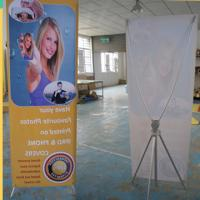China Adjustable X Stand Banners With Grommets Single / Double Sides wholesale