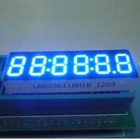 China Ultra Bright Blue 6 Digit 7 Segment LED Display 0.32 Inch With Black Surface wholesale