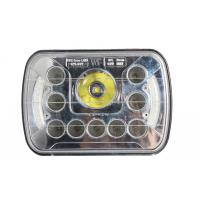 China 7 inch 45 watt square front car light with Cree chips and angle eye high/low beams wholesale