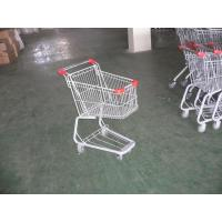 Quality Plastic Supermarket Folding Shopping Carts With Swivel Casters for sale