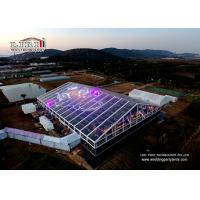 China Transparent Marquee Wedding Tent With Glass Walls For 1000 People Anniversary wholesale