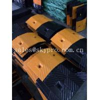 Quality Reflective rubber speed hump Molded Rubber Products road speed ramp for sale