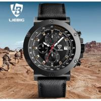 China LIEBIG Fashion Military Multifunction Chrono Outdoor Sport Watches Genuine Leather Strap Quartz Watches ZHG161018 wholesale