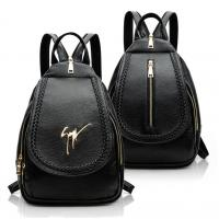 China Daily Small Fashion Ladies Backpack Black Korean Style PU Leather Vintage wholesale