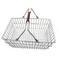 China Low Carbon Steel Hand - Held Metal Shopping Baskets With Handles 20 Liter wholesale