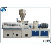 China Double Screw PVC Plastic Pipe Manufacturing Machine , Plastic Sheet Extrusion Machine wholesale