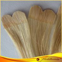 China Straight 100% Virgin Double Sided Tape Hair Extensions For Women on sale