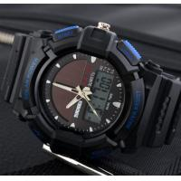 Quality Wholesale Men Leisure Outdoor Sport Watches Solar Power Dual time Chrono 5ATM for sale