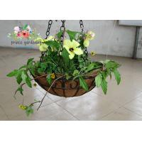 China Wall Decor Indoor Hanging Flower Baskets , Round Hanging Plant Holders wholesale