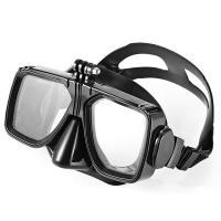 China Adult Silicone Diving Snorkel Mask With Gopro Mount Colorful Frame wholesale