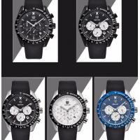 Wholesale Fashion Men Multifunction Chronograph Silica Gel Band Waterproof 30m