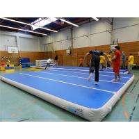 China Blue Top Inflatable Air Track Mat For Fitness Center Training Customized Pressure wholesale