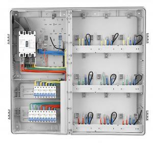 China 9 gang kwh meter box Plastic transparent cover kwh meter box din rail panel box /  board wholesale