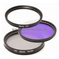 China New arrival camera FLD filter +UV filter+ CPL filter kit wholesale
