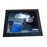 6.5inch industrial grade chassis LCD touchscreen monitor displays with VGA HDMI DVI input for industrial use