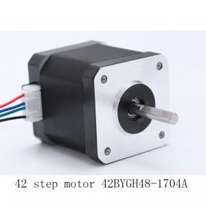 China 42BYGH48 Length 48mm 3D Printer Motors Nema 17 1.7A Current wholesale