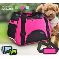 China Small Dogs Soft / Foldable Portable Pet Carrier Bag With Mesh Breathable Side wholesale