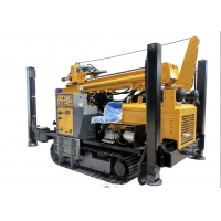 China Crawler 300m Hydraulic Water Well Drilling Rig Machine With Air Compressor Mud Pump wholesale
