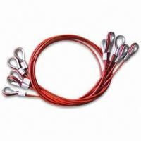China PVC Coated Steel Wire Rope Sling, Available in Customized Sizes, OEM Orders are Welcome on sale