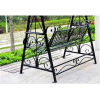 China Metal Garden Other Furniture Two Seater Wrought Iron Hanging Swing Chair wholesale