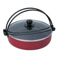 China Aluminum Nonstick Stamped Hot Pot With Lid , Induction Bottom wholesale