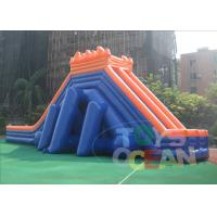 Quality 50M Giant Outdoor Inflatable Slides Hippo Security  Waterproof For Beach for sale