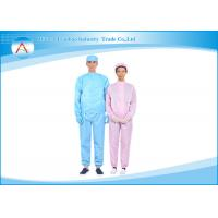 China Microelectronic industry Cotton Cleanroom Clothing Smocks / Antistatic ESD Clothing wholesale