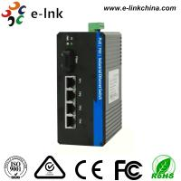 Buy cheap Unmaneged 4 10 / 100 TX POE Ports and 1 10 / 100 FX Uplink Port Industrial Ethernet POE Switch from wholesalers