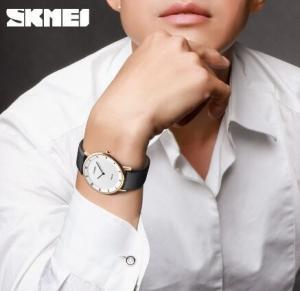 China Skmei Unioue Joker Fashion Vitality City Men Simple Quartz Genuine Leather Band Wrist Watches 1263 wholesale