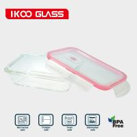 China Rectangle Borosilicate glass container on sale