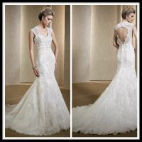 China Vintage Romantic Lace Wedding Gowns , Mermaid Dresses Open Back Bridal Gowns wholesale