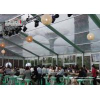 China Acrylic Clear Color PVC Aluminum Outdoor Exhibition Tent  Portable Tents1000 People wholesale