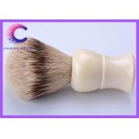 China High moutain cleaning shaving brush with white ivory handle soft tip hair wholesale