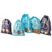 Wholesale custom non woven drawstring shoes bags wholesale manufacturer with window from china suppliers
