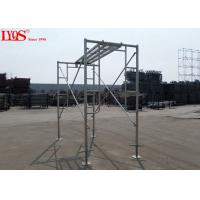 "China Sturdy Steel Ladder Frame Scaffolding Zinc Plated For Mansonry 3'×3'6"" wholesale"