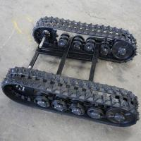 China Size Adjustable Rubber Track Undercarriage 1020 * 800 * 290mm For Small Machine wholesale