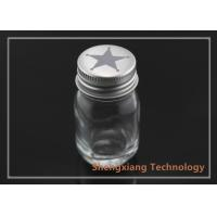 Quality 1oz clear Boston round glass bottle for food / pharmaceuticals packaging , D36mm×H68mm for sale