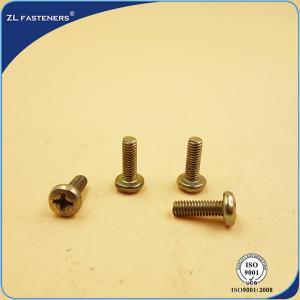China Philips Head Recessed Pan Head Machine Screw , Brass Machine Screws Yellow Zinc Coated wholesale