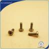 Buy cheap Philips Head Recessed Pan Head Machine Screw , Brass Machine Screws Yellow Zinc Coated from wholesalers