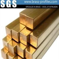 China Copper Zinc Alloy Extrusion Square Flat Bars Custom Metal Extruded Profiles wholesale